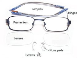 Eyeglass Parts Disassembled