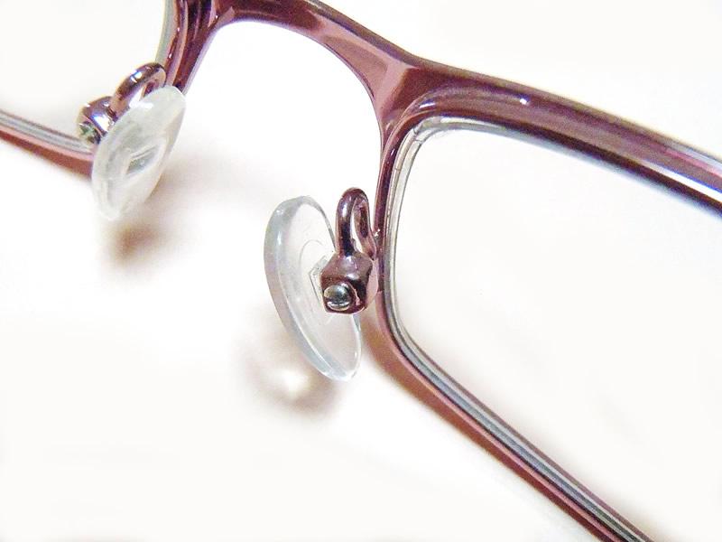 Eyeglass Nose pads Screwed on Frame