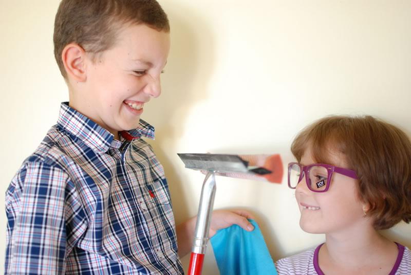 Cleaning Eyeglasses