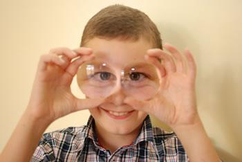 eyeglass lenses with big eyes