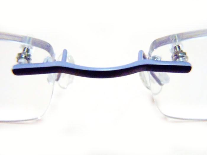 Nose Bridge on Frameless Eyeglasses