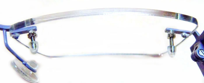 Lenses Transparent Edge on Frameless Eyeglasses