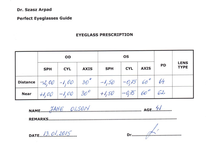 c12f62f35be Eyeglass Prescription - Understand All the Parameters