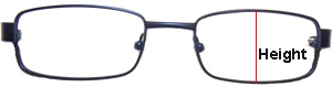 Progressive Eyeglasses frame front height