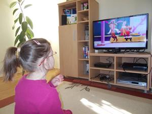 Progressive Eyeglasses watching TV