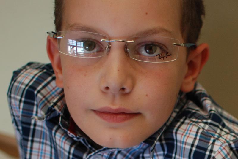 Rimless Eyeglasses on Face