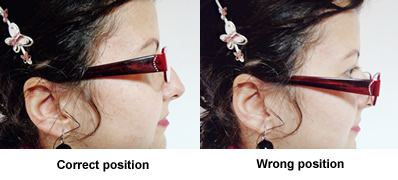 progressive eyeglasses position